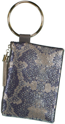 Whiting & Davis Python Tassel Wristlet