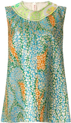 Marni textured patchwork sleeveless top