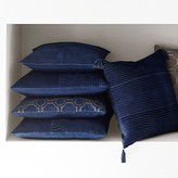 Suede Origami Cut Pillow Cover, Navy