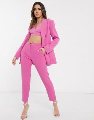 ASOS DESIGN pop slim suit trousers in pink