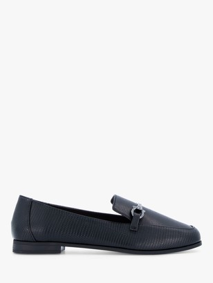 Head Over Heels Gahad Reptile Loafers, Black