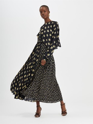 Oscar de la Renta Blossom Pleated Skirt