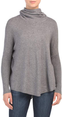 Yummy Yarn Cowl Neck Poncho Sweater