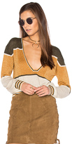 Free People Gold Dust Pullover Top in Olive