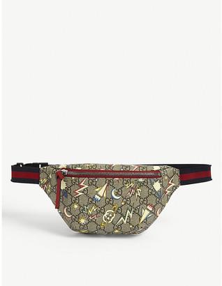 Gucci Kids space logo-print bum bag