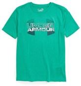 Under Armour 'Big Logo Hybrid' HeatGear ® T-Shirt (Little Boys & Big Boys)