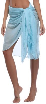 iClosam Womens Chiffon Beach Pareo Sarong Bikini Cover Ups Scarves & Wraps Summer Holidays Beach Skirt Dress Multifunction