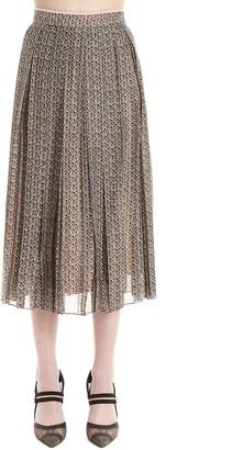 Fendi Graphic Printed Pleated Skirt