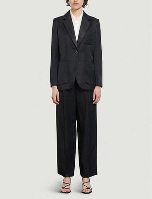 Sandro Syane tailored-fit satin blazer
