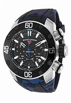 Swiss Legend Men's Quartz Stainless Steel and Silicone Casual Watch, Color:Blue (Model: SL10617SM01BLS)