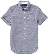 Ralph Lauren Big Boys 8-20 Checked Short-Sleeve Stretch Oxford Shirt