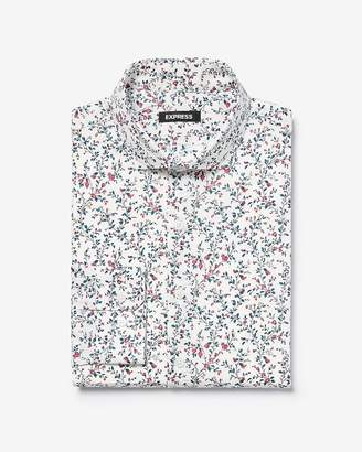 Express Classic Floral Spread Collar Dress Shirt