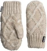Muk Luks Textured Diamond Pot Holder Mittens - Fleece Lined (For Women)