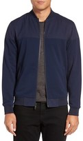 Vince Camuto Men's Mixed Media Bomber Jacket