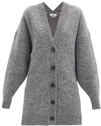 Etoile Isabel Marant Moana Oversized Wool-blend Cardigan - Dark Grey