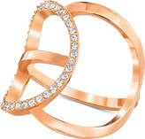 Swarovski Rose Gold-Tone Crystal Pavé Modern Statement Ring