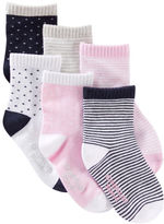 Osh Kosh 6-Pack Patterned Crew Socks