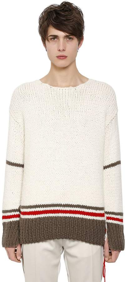 Maison Margiela Wool Blend Knit Sweater