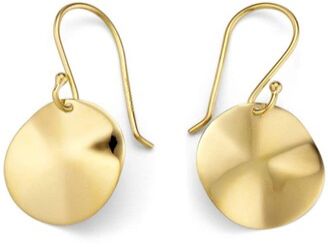 Ippolita 18kt yellow gold mini Classico Wavy Disc earrings