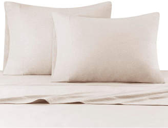 Heathered Cotton Jersey 4-Pc. Solid Queen Sheet Set Bedding