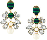 Tory Burch ribbon pearl statement earrings