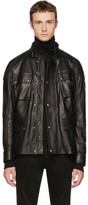 Belstaff Black Leather Woodbridge Jacket