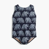 J.Crew Girls' one-piece swimsuit in elephant print