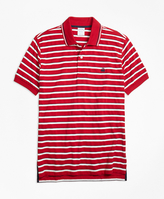 Brooks Brothers Original Fit Multi-Texture Stripe Polo Shirt