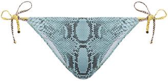 Stella McCartney Timeless Snake-print Low-rise Bikini Briefs