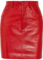 Vetements Leather Mini Skirt - Red