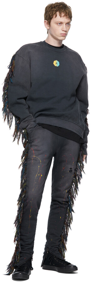 Thumbnail for your product : Alchemist Black Painted Know U Riders Lounge Pants