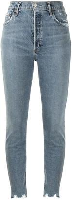 AGOLDE Nico distressed skinny jeans