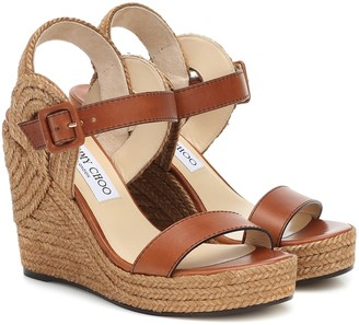 Jimmy Choo Delphi 100 wedge espadrille sandals