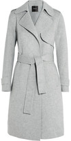 Theory Oaklane Brushed Wool And Cashmere-blend Coat - Gray