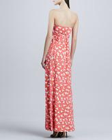 Rachel Pally Strapless Long Dragonfly Printed Dress