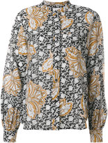 A.L.C. floral bell sleeve blouse - women - Silk/Cotton - 4