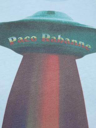 Paco Rabanne Rainbow Spaceship Cat Logo T-shirt