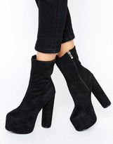Truffle Collection Truffle Platform Round Heel Boot