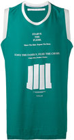 Julius lettering print sleeveless T-shirt - men - Cotton - I