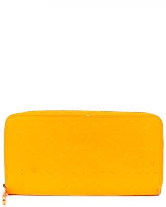 Louis Vuitton Yellow Monogram Vernis Leather Zippy Wallet