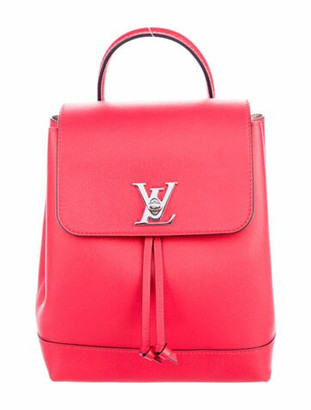 Louis Vuitton Calfskin Lockme Backpack silver