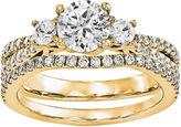 MODERN BRIDE Womens 1 1/5 CT. T.W. Genuine White Diamond 14K Gold Bridal Set