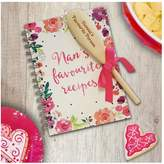 Very Personalised Nans Fave Recipe Book With Wooden Spoon