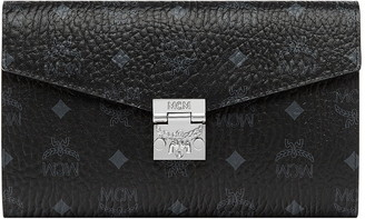 MCM Patricia Visetos Continental Wallet on a Chain