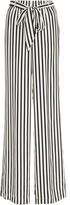 Frame Striped Crepe de Chine Pajama Pants