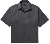 Prada Camp-Collar Stretch Cotton-Blend Poplin Shirt