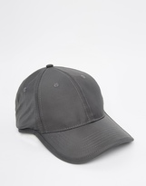 Asos Baseball Cap In Grey Nylon With Bungee Cord Fastener - Grey