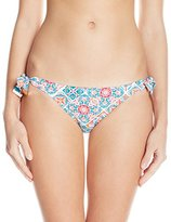 Kensie Women's Mosaic Double Tie Bikini Bottom