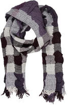 Burberry Metallic-Accented Fringed Scarf