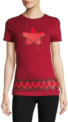 Canadian Olympic Team Collection Glorious Free Maple Leaf Graphic Tee